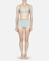 Green Gingham Bikini