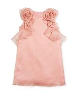 summer flower girl dress pattern pink flowers roses