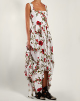 Alexander McQueen Poppy Print Cotton Poplin Dress