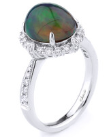 Supreme Jewelry Opal Engagement Ring