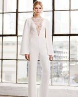 71afc3a00 tadashi shoji wedding dress spring 2019 deep v long sleeves jump suit pants