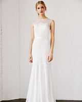 tadashi shoji wedding dress spring 2019 illusion sleeveless trumpet