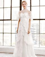tadashi shoji wedding dress spring 2019 capelet strapless a-line