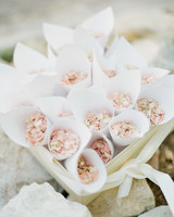 Wedding Flower Petal Bars, Cones with Mini Flowers