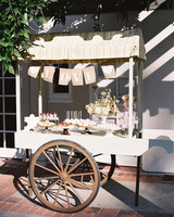 yiran yexiang wedding dessert cart
