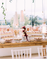 yolana douglas wedding dessert table