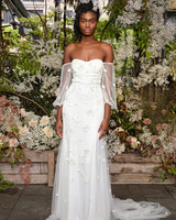 alexandra grecco wedding dress off-the-shoulder bishop sleeves