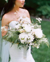 Full White Wedding Bouquet