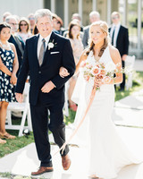 amanda chuck wedding processional bride and father
