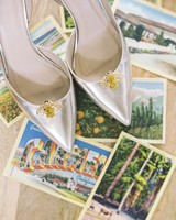 wedding shoes postcards