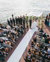 wedding ceremony on the water in Brooklyn