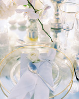 angie prayogo greece wedding place settings centerpieces