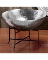 aluminum anniversary gift hammered bowl