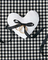 avril quy wedding new york rings heart black white bow