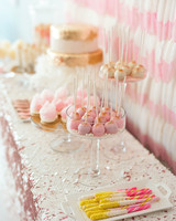 bar cart garland bachelorette party. cake pops dessert table  sc 1 st  Martha Stewart Weddings & Creative Bachelorette Party Decoration Ideas | Martha Stewart Weddings