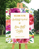 bachelorette party supplies floral sign