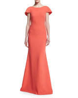 Coral Cape Gown