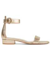 """Gianvito Rossi """"Versilia 20"""" Metallic Leather Sandals"""