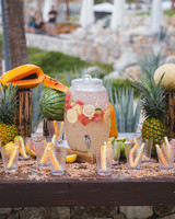 Beach Wedding Shower Drink Station