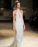 berta key-hole halter wedding dress spring 2018