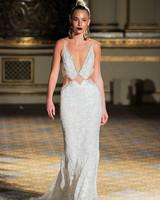 berta v-neck lace cut out wedding dress spring 2018
