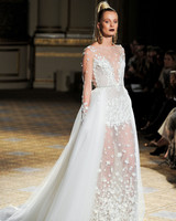 berta tulle wedding dress with flower details spring 2018
