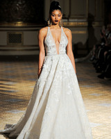 berta a-line v-neck halter wedding dress spring 2018