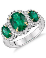 Blue Nile Emerald Engagement Ring