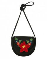 floral embroidered flower girl bag