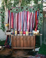 bridal shower bar streamers