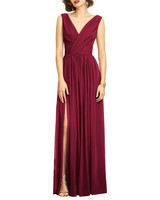burgundy dress wrap