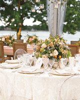 Warm-Colored Centerpieces