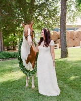 chrissy standing with horse