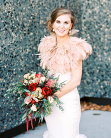 bride feather bolero