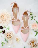 cristina chris wedding bride pink shoes
