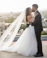 danielle kevin wedding couple kissing