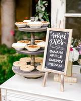 dessert menu ideas aged easel wood frame