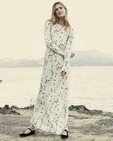 floral maxi engagement party dress