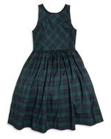 green flower girl dress