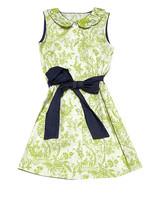 green flower girl dress black bow