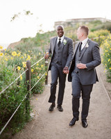 henery michael wedding ceremony couple walking