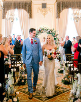 wedding recessional in ornate room
