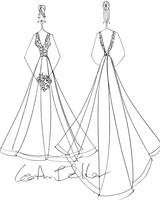 lea-ann belter wedding dress sketch