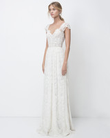 lihi hod sheath cap sleeves lace wedding dress fall 2018