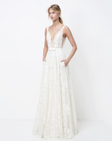 lihi hod plunging neck belted a-line wedding dress fall 2018