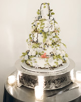 wedding cake with edible greenery and vines
