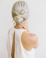 bride hairstyle metallic accessory