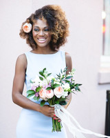 maid of honor hairstyles springy arrangement