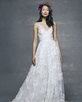 marchesa notte bridal wedding dress floral illusion ball gown