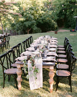 megan scott wedding outdoor table